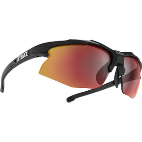 Bliz Hybrid M12 Lunettes, rubber black/shiny silver/smoke with red multi